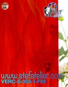 """Verre """"S"""" rouge et opaline..."""