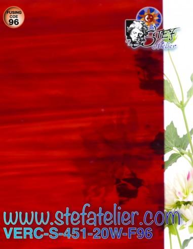 """Verre """"S"""" Watterglass bariolé rouge..."""