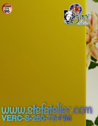 "verre ""S"" jaune opaque COE96 30x30cm"