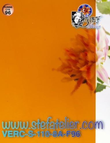 """Verre """"S"""" Artique Orange 30x30cm"""