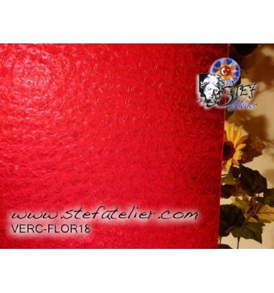 """verre """"W"""" florentine rouge clair 27x35cm"""