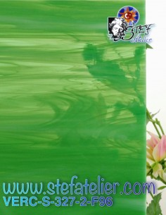 """glass """"S"""" light green grass..."""
