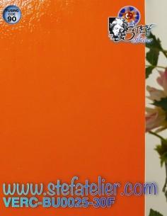 """Opaque mandarin orange """"BU""""..."""
