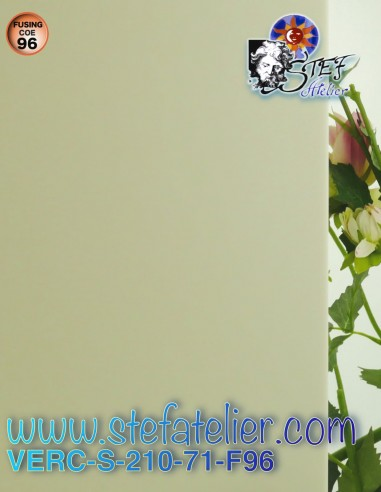 "glass ""s"" opaque ivory COE96 30x30cm"