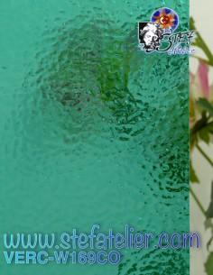 """Glass """"W"""" Corella blue 169..."""