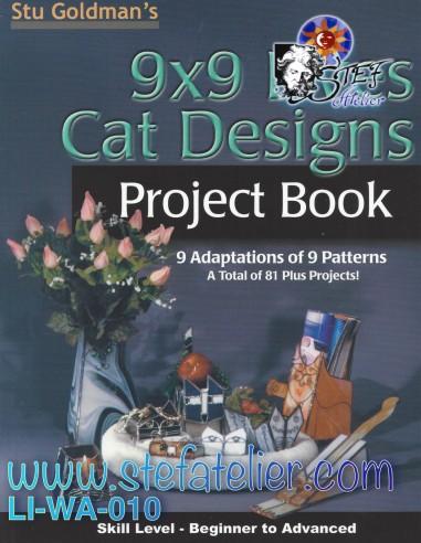 """livre modèles de vitraux """"Cat Designs"""""""
