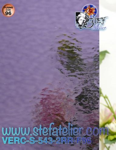 """Verre """"S"""" cathédrale violet bleu..."""