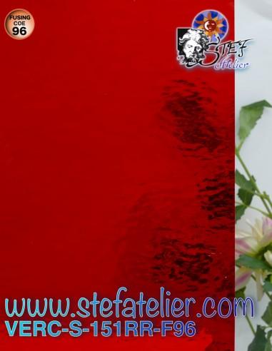 """Verre """"S"""" rouge clair RR cathédrale..."""