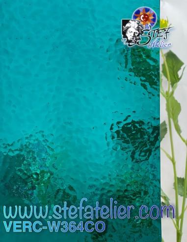 "Verre ""W"" Corella 364 bleu Topaz 26x27cm"