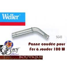Panne de fer coudée de rechange pour fer Weller 100W