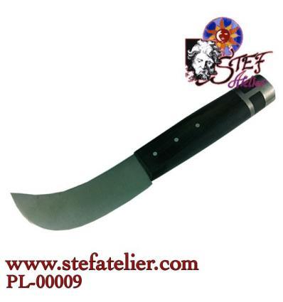 Couteau à plomb manche noir embout plomb
