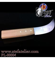 couteau à plomb manche en bois
