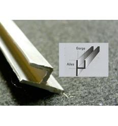 Plomb Vitrail Y 6*5 mm décentré 8mm patte 1,8m