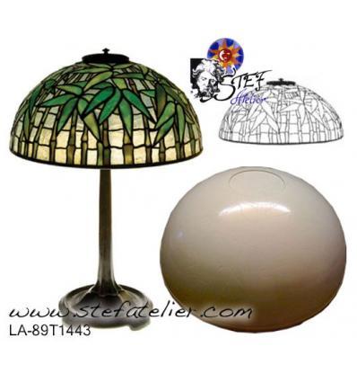 modele chapeau de lampe fibre de verre bamboo 41cm avec plans. Black Bedroom Furniture Sets. Home Design Ideas