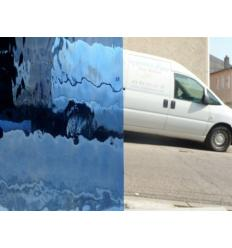 "verre ""S"" watterglass bleu clair 27x30cm"