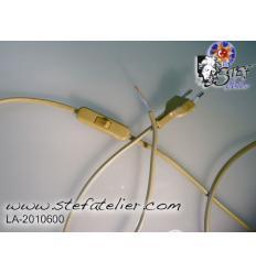 cable d'alimentation deux fils beige Doré